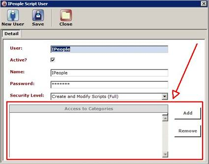 IPeople Script Administrator User Options